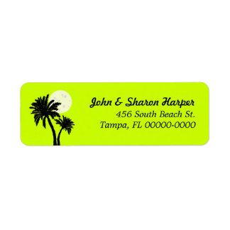 Etiqueta Endereço do remetente do limão das palmeiras