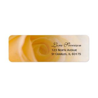Etiqueta Endereço do remetente do rosa branco