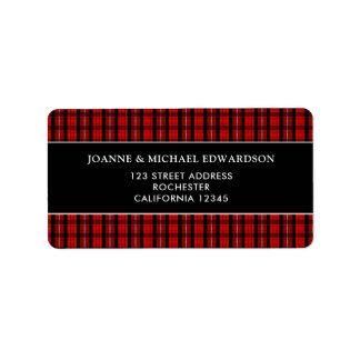 Etiqueta Endereço do remetente escocês preto vermelho