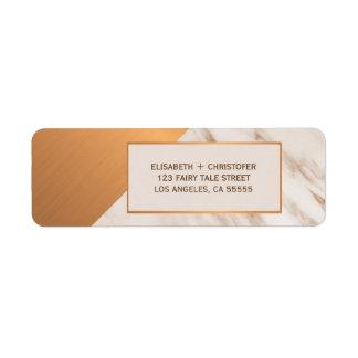 Etiqueta Endereço do remetente geométrico de cobre de