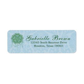 Etiqueta Endereço do remetente Jeweled elegante da mandala