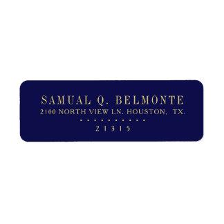 Etiqueta Endereço do remetente personalizado | azul