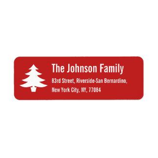Etiqueta Endereço do remetente personalizado da árvore de