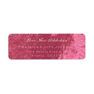 Etiqueta Endereço novo branco cor-de-rosa Doce-Vermelho