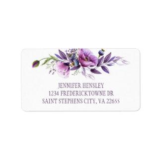 Etiqueta Endereço roxo violeta | dos Wildflowers da lavanda