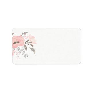 Etiqueta Endereço vazio floral do gerânio cor-de-rosa |