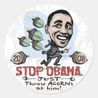 Etiqueta engraçada de Anti-Obama da BOLOTA Adesivo Em Formato Redondo