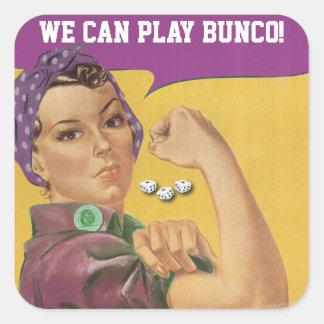 Etiqueta engraçada de Bunco - nós podemos jogar