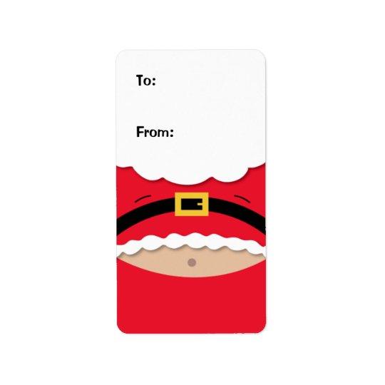 Etiqueta engraçada do Tag do presente do Natal Etiqueta De Endereço