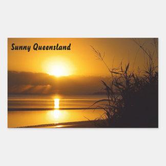 Etiqueta ensolarada de Queensland
