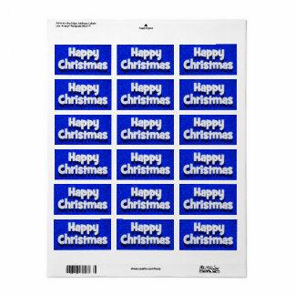 Etiqueta Envelope do Natal feliz/etiqueta 3 cumprimentos do