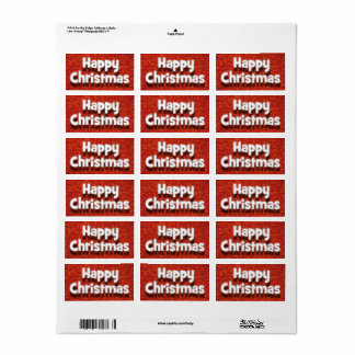 Etiqueta Envelope do Natal feliz/etiqueta cumprimentos do