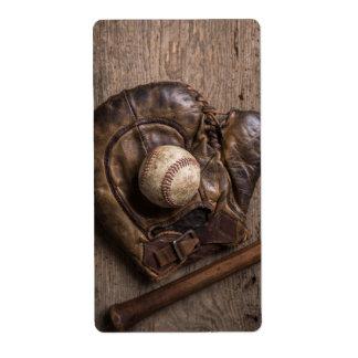 Etiqueta Equipamento de basebol do vintage