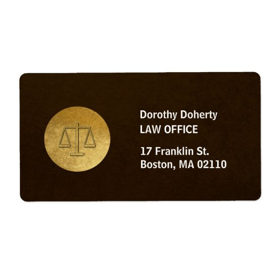 Etiqueta Escalas da empresa de advocacia de justiça |