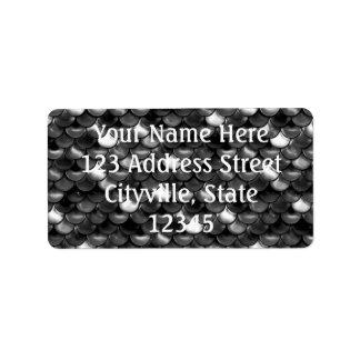 Etiqueta Escalas preto e branco de Falln
