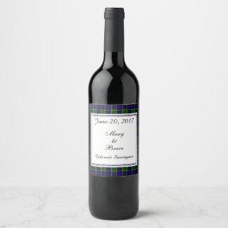 Etiqueta escocesa do vinho do casamento de Leslie