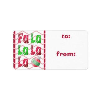 Etiqueta Escova da aguarela de FaLaLa, Chevron vermelho