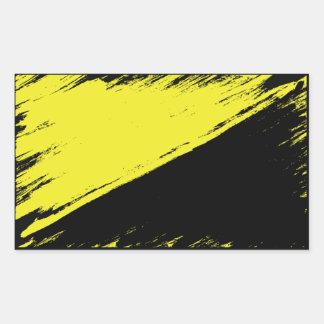 Etiqueta escovada da bandeira do