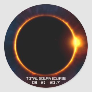Etiqueta escura do eclipse 2017 solar