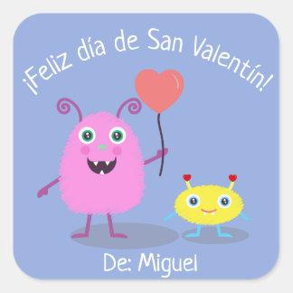 Etiqueta espanhola do dia dos namorados com