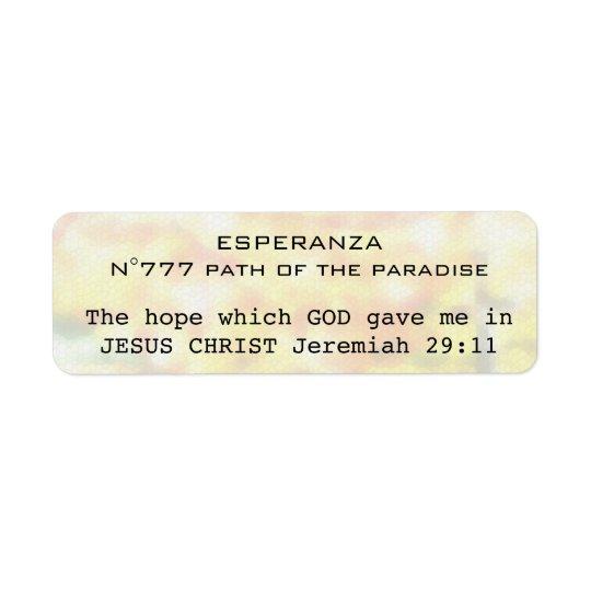 Etiqueta Esperanza