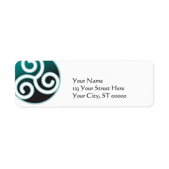 Etiqueta Espiral do céltico de Triskele
