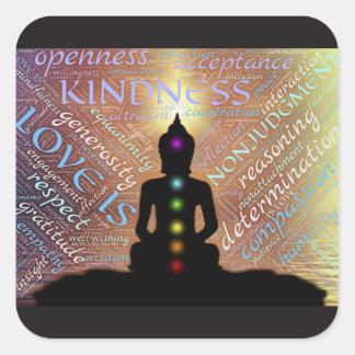 Etiqueta espiritual do amor da iluminação do zen