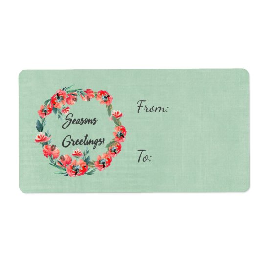 Etiqueta Estações que cumprimentam a grinalda floral
