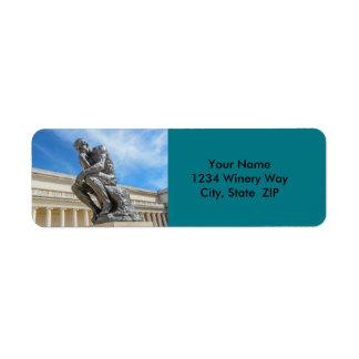 Etiqueta Estátua do pensador de Rodin