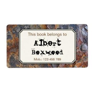 Etiqueta Este livro pertence à textura conhecida feita sob
