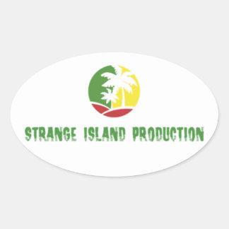 Etiqueta estranha da produção da ilha