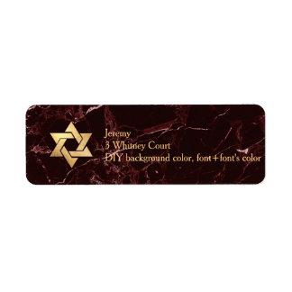 Etiqueta Estrela de mármore vermelha de PixDezines Masala