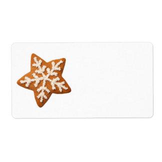 Etiqueta Estrela do pão-de-espécie isolada no fundo branco