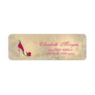 Etiqueta Etiqueta-Salto chique glamoroso elegante do