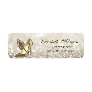 Etiqueta Etiqueta-Saltos glamoroso elegantes do endereço