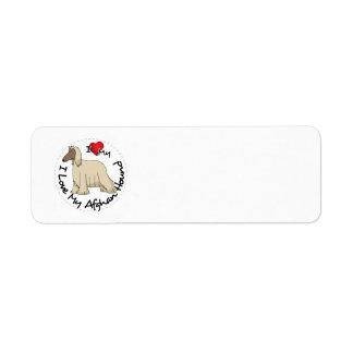 Etiqueta Eu amo meu cão de galgo afegão