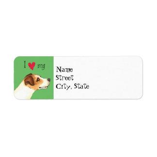 Etiqueta Eu amo meu Jack Russell Terrier
