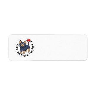 Etiqueta Eu amo meu yorkshire terrier engraçado & bonito