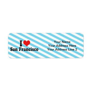 Etiqueta Eu amo San Francisco