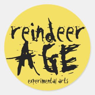 Etiqueta experimental das artes da idade da rena