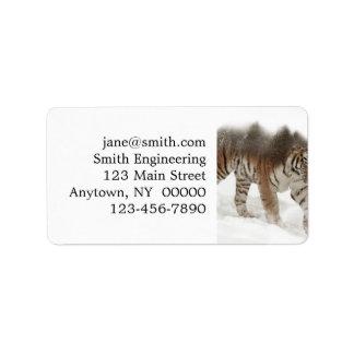 Etiqueta Exposição-animais selvagens tigre-Tigre-dobro