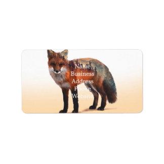 Etiqueta Exposição dobro do Fox - arte da raposa - raposa