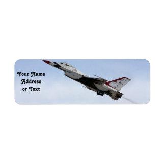 Etiqueta F-16 Thunderbird em vôo