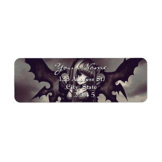 Etiqueta Fada escura do Anime do gótico