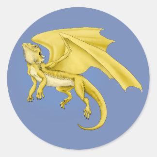 Etiqueta farpada do dragão do dragão
