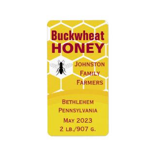 Etiqueta Favo de mel do trigo mourisco