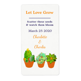 Etiqueta Favor botânico das sementes do Succulent |
