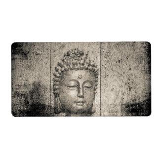 Etiqueta Fé da ioga de Buddha do vintage