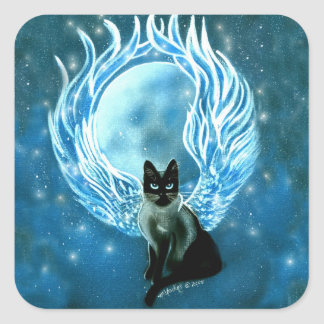 Etiqueta feericamente do gato da deusa da lua