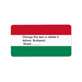 Etiqueta feita sob encomenda com a bandeira de etiqueta de endereço